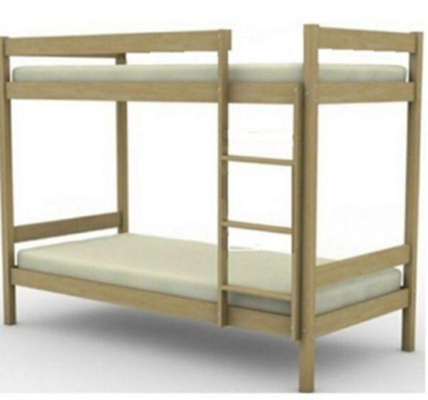 Кровать из дерева двухъярусная эконом